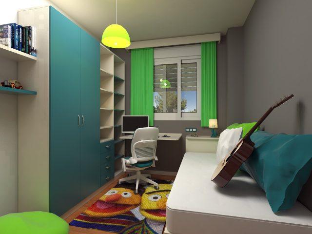 Маленькая спальня удлиненной формы