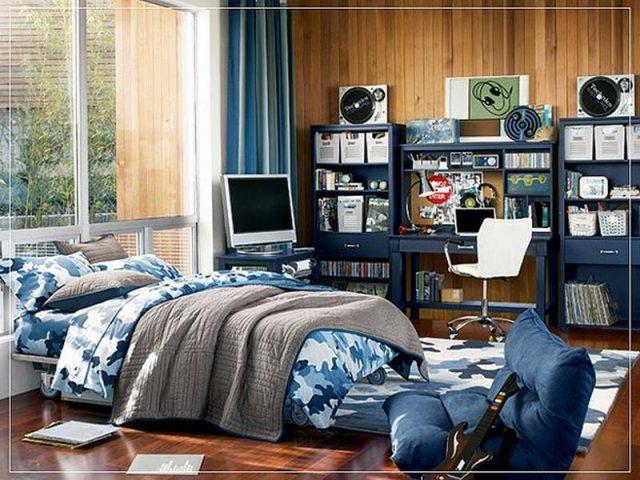 синий цвет при оформление дизайна детской комнаты