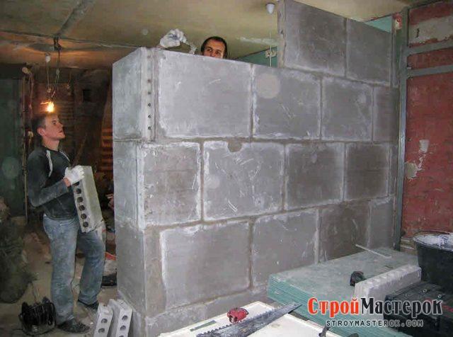 блоки для перегородок