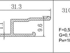 профиль для натяжных потолков 3105