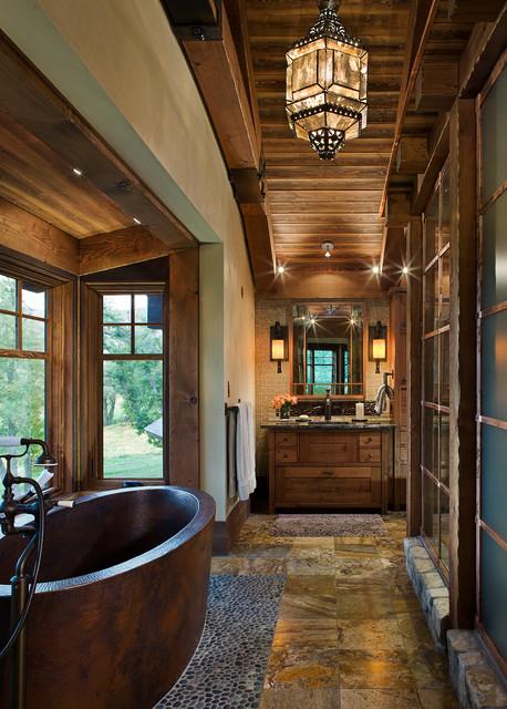 Использование декоративного камня в ванной