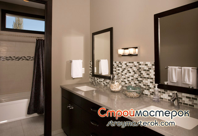 Ванная комната со столешницей фото