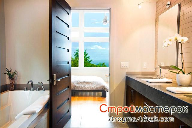 Ламинированные двери для ванной комнаты