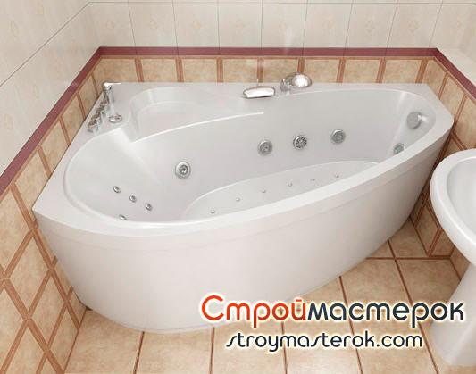 Гидромассажные ванны в маленькой ванной комнате