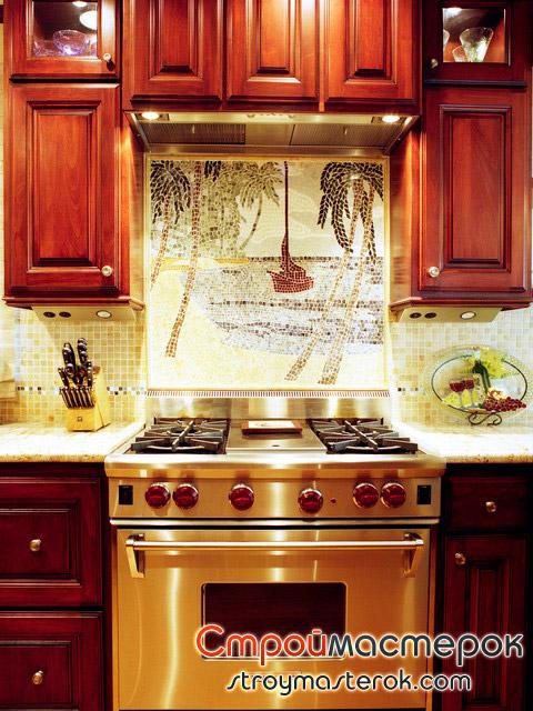 Плитка мозаика панно на кухне
