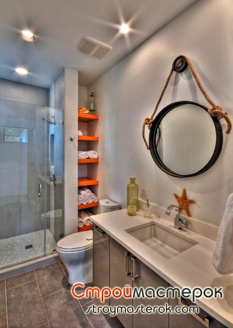 Полка в ванную для полотенец