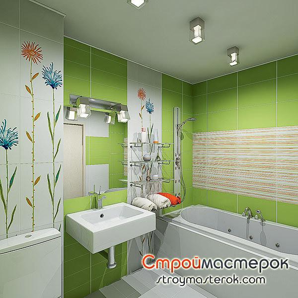 Простая и удобная ванная комната