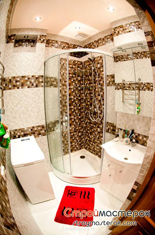 Продуманный и правильно выполненный дизайн ванной комнаты