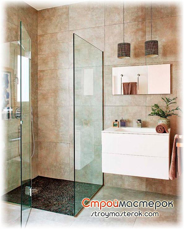Даже в малометражной квартире можно создать роскошный интерьер ванной комнаты