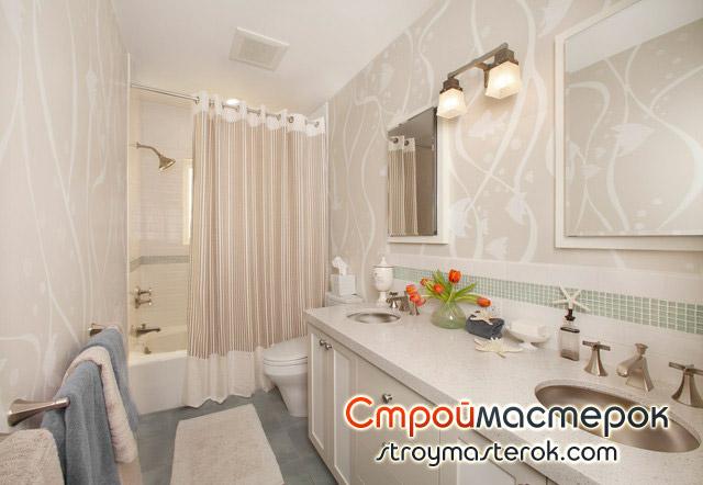 Виниловые раздвижные шторы для ванной