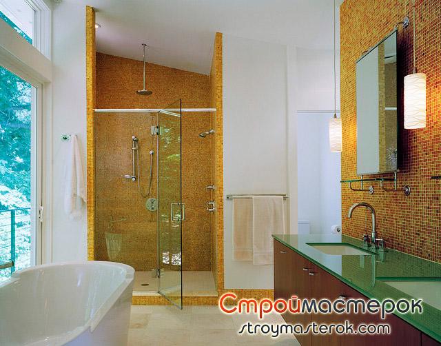 Стеклянная мебель в ванной фото