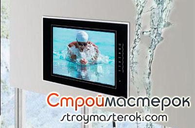Влагостойкий телевизор для ванной комнаты
