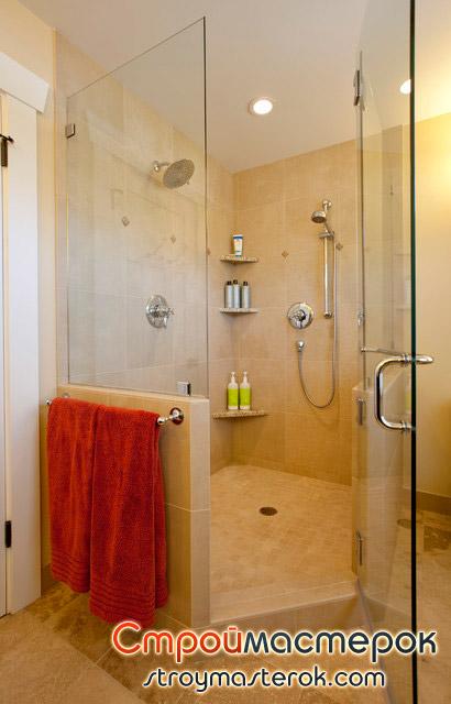 угловая керамическая полка в ванную