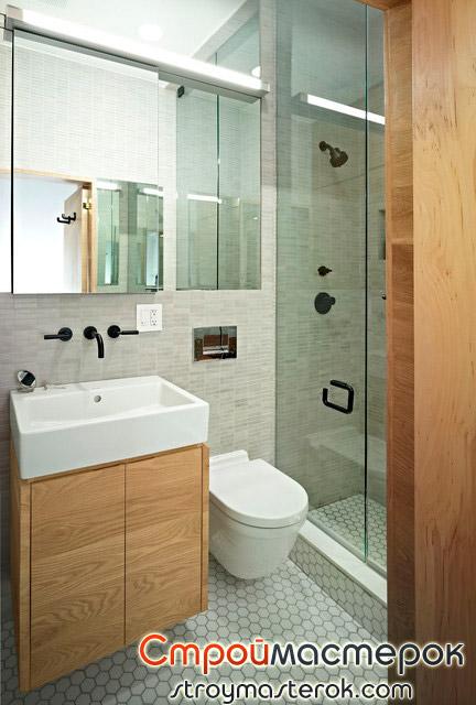 Подвесной унитаз в ванной комнате