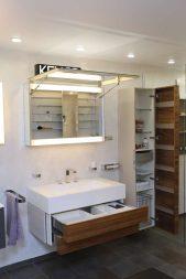 шкаф над раковиной с зеркалом