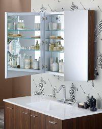 шкафчики с зеркалом для ванной комнаты фото