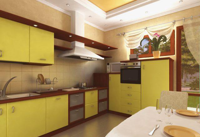 Выбор цвета для кухонных фасадов