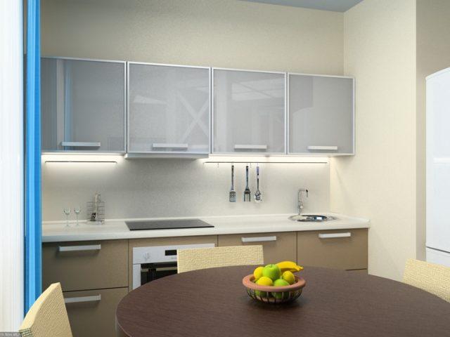 Дизайн кухни 8 кв. м в стиле минимализм