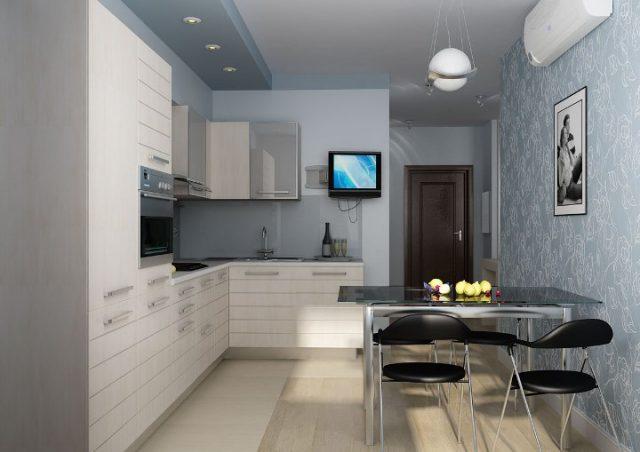 Дизайн серой кухни 8 квадратных метров