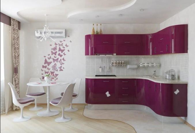 Фиолетовая кухня фото