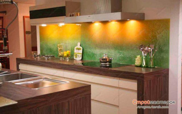 Цветные панели для кухни