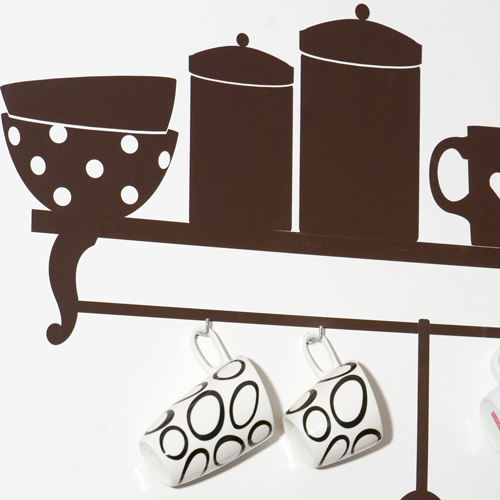Виниловые наклейки на стену в кухне