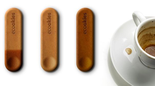 Ложечка для кофе из печенья