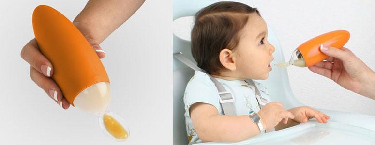 Детская бутылочка с ложкой
