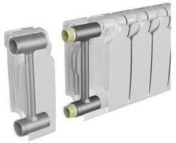 Биметаллический радиатор отопления с секционным деления