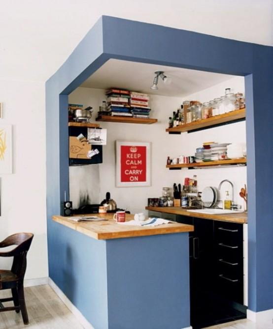 дизайн мини кухня