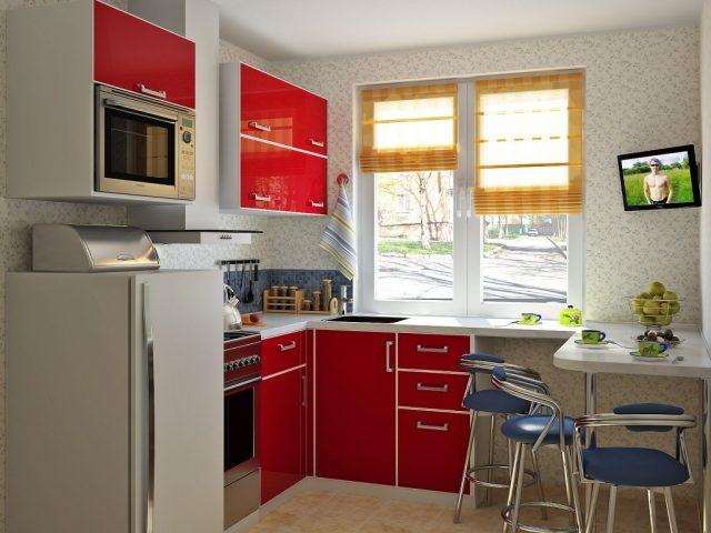 кухня 6 м дизайн