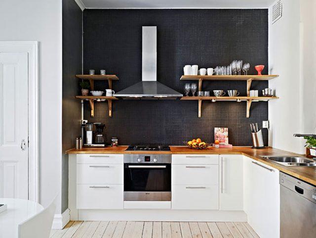 дизайн интерьера кухни студии фото