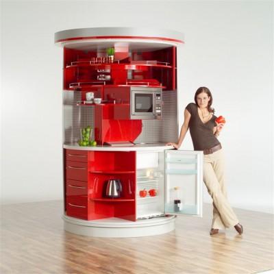 угловая планировка на маленькой кухне