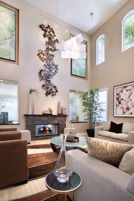 декор стен в гостиной фото