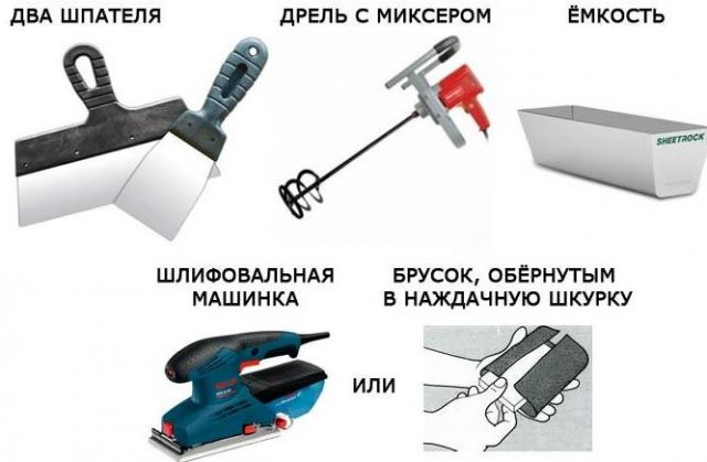 Шпаклевка стен своими руками: инструмент