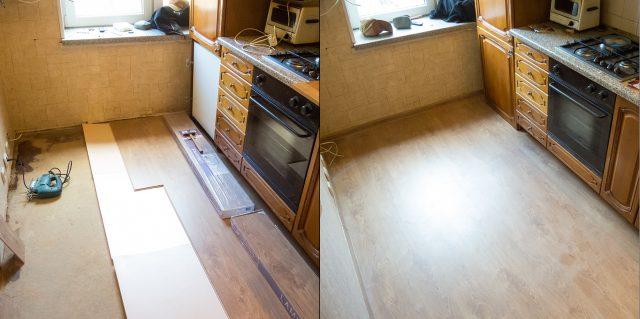 замена покрытия в кухне