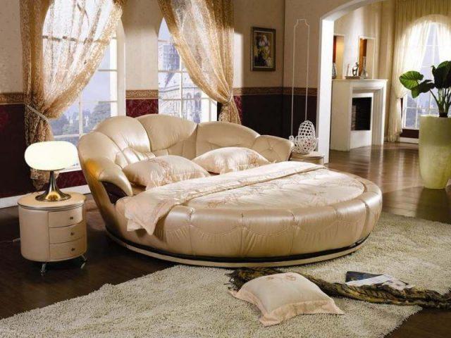 круглая кровать в спальню