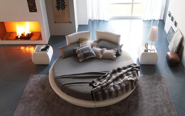 Интерьер и круглая кровать