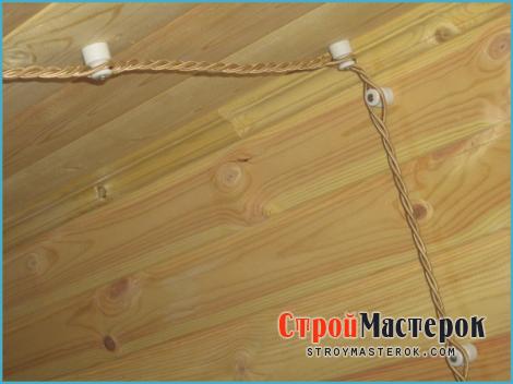 монтажа электропроводки в деревянном доме