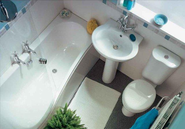 «Большой» дизайн для маленькой ванной
