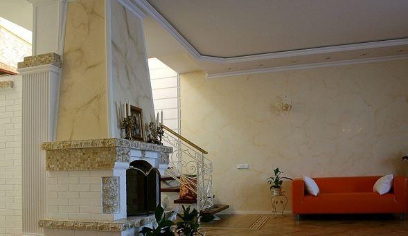 Венецианская штукатурка фото в интерьере
