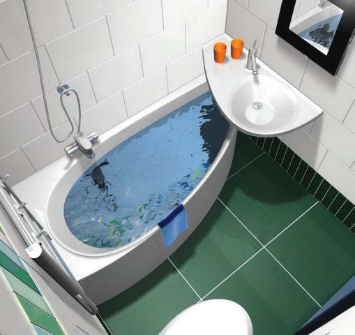 дизайн для маленькой ванной комнаты