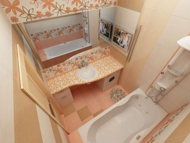 дизайн в маленькой ванной