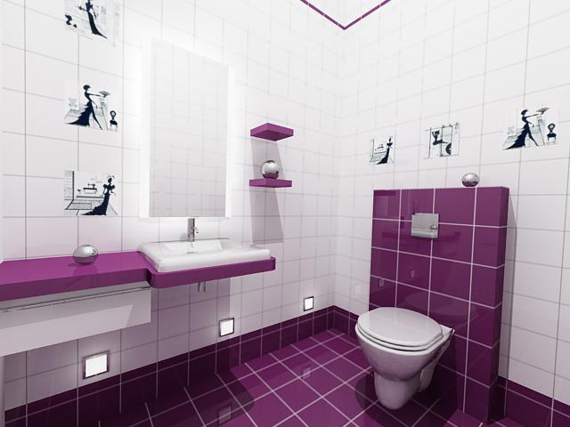 Красивый интерьер в туалете