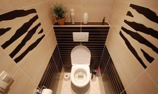 черно белый туалет