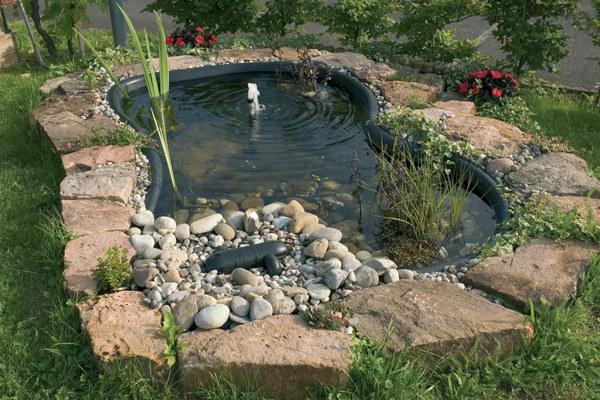 декоративный водоем на даче