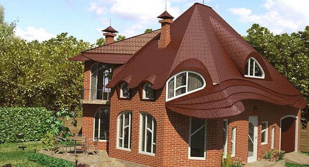 крыши домов разновидности фото