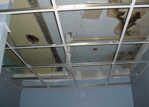 ремонт подвесного потолка