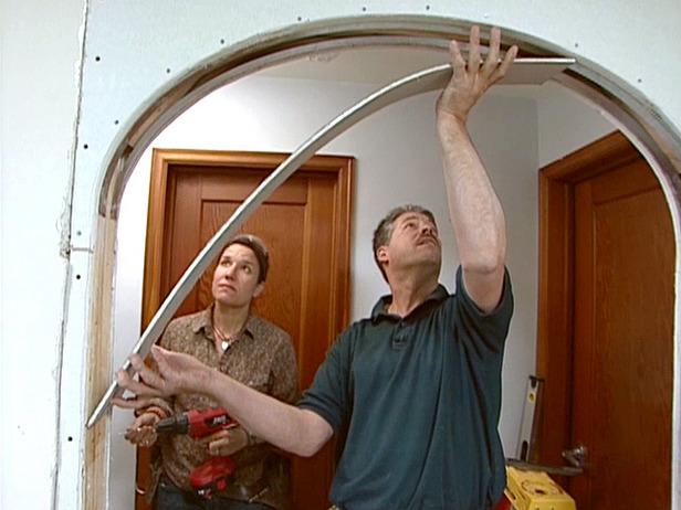 делаем арку из гипсокартона