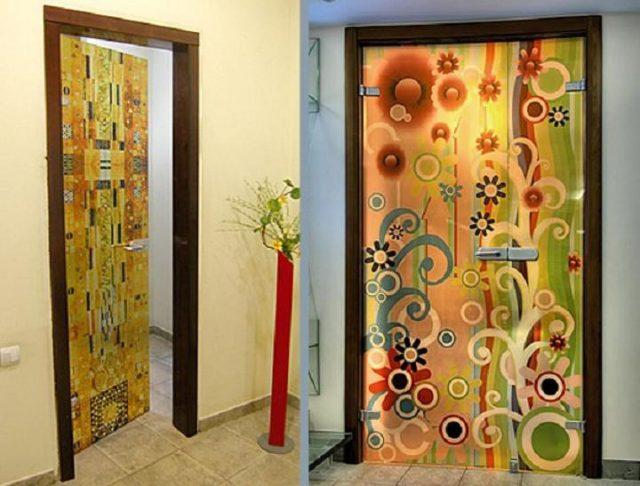 декорирование двери своими руками